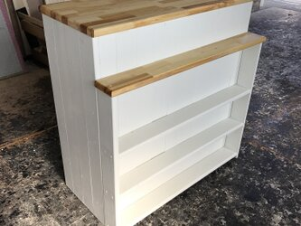 hotaru レジカウンター キャビネット 棚 カウンター キッチン 店舗 作業台 オーダー可 天然木 無垢材の画像