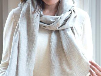 Organic Cotton ヤク混薄手ストール(ヤクビエラ)の画像