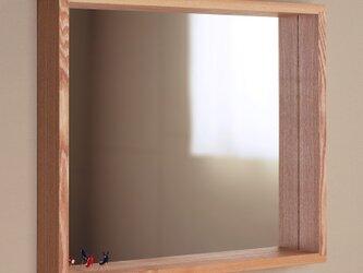 木製 はこ鏡 タモ材1 ミラー ボックス型の画像