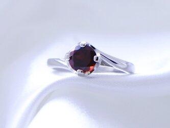 SV925 ガーネット 大粒 リング 指輪 天然石の画像