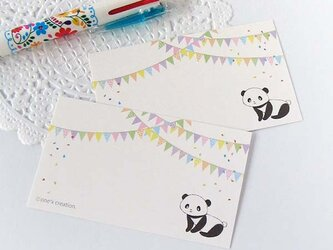 HAPPY パンダ メッセージカード・10枚の画像