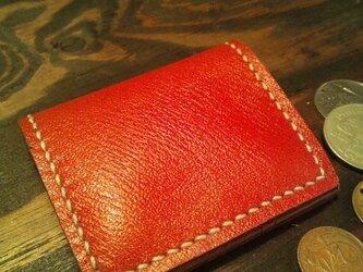 シンプルで使いやすい背面にポケット付きの小銭入れ☆RDの画像