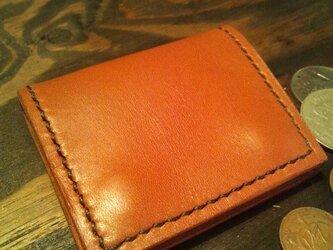 シンプルで使いやすい背面にポケット付きの小銭入れ☆BRの画像