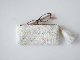 marshmallow mint めがねポーチ 手織り  眼鏡ケース  コスメの画像