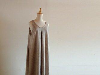 タックジャンパースカート コットンリネン裏毛ニットの画像