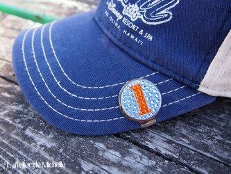 ゴルフマーカー(ナンバー・ライトブルー&オレンジ)の画像