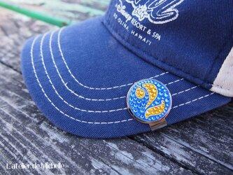 ゴルフマーカー(ナンバー・ブルー&イエロー)の画像