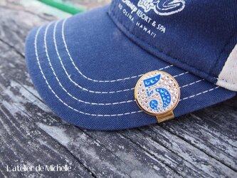 ゴルフマーカー(ナンバー・サーモンピンク&ブルー)の画像