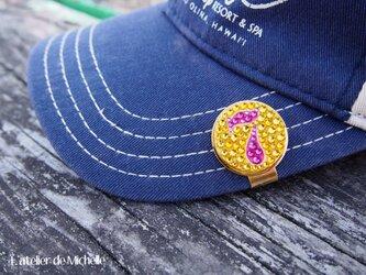 ゴルフマーカー(ナンバー・イエロー&ピンク)の画像