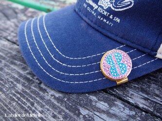 ゴルフマーカー(ナンバー・ライトピンク&アクアマリン)の画像