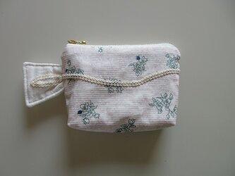 白いミニポーチ ~泉~の画像