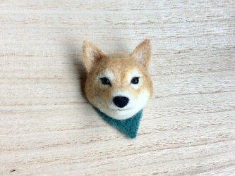 ウールの柴犬ブローチ [ 再出品 ]の画像
