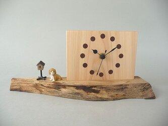 わんことポストのお木時計の画像