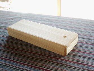 木の筆箱 セン材の画像