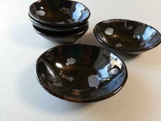 黒釉オーバル小鉢の画像