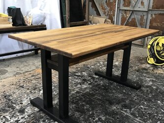 hotaru ソファーテーブル カフェテーブル 男前家具 棚付き 食卓 店舗 天然木 無垢材 オーダー可の画像