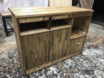 hotaru キッチンカウンター 作業台 食器棚 キャビネット 店舗 レジ 炊飯器 オーダー可 天然木 の画像
