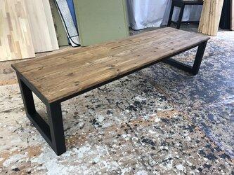 hotaru 男前家具 ロング ローテーブル リビングテーブル ソファーテーブル オーダー可 天然木 無垢材の画像