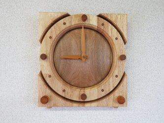 kakeoki clock クルミ&Rubber treeのコンビネーションの画像