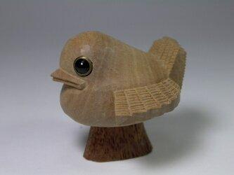 根付 福良雀(ふくらすずめ) 白檀製の画像