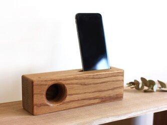 iPhoneウッドスピーカー(ナラ材/充電不可type)の画像