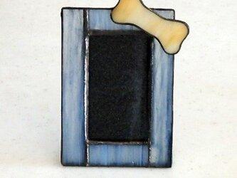ステンドグラス ペットフォトフレーム の画像