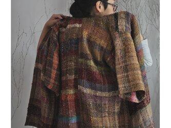 手織り ジャケットコート コーディガンの画像