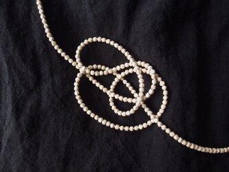 送料無料【受注制作】Silver × Silver ビーズネックレス【small・80cm】の画像