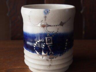 zao blue 銀彩湯のみの画像