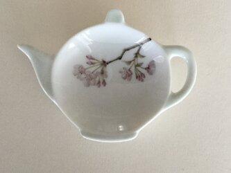 桜のティートレイの画像