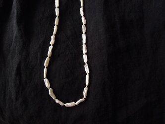 送料無料【silver】パールのネックレス … Stick pearl【受注制作】の画像