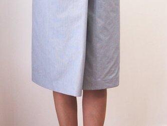 巻きスカート風キュロット(ライトグレイ)の画像