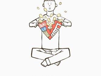 ポテトチップス爆発 男子 【 Tシャツ 】の画像