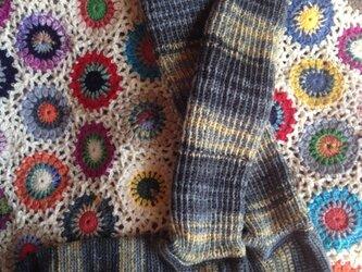 手編み  ハイソックスの画像