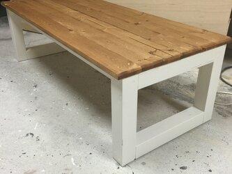 hotaru カントリー ローテーブル ベンチテーブル 天然木 無垢材 オーダー可の画像
