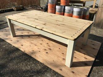 hotaru カントリー カリフォルニア風 ローテーブル 天然木 無垢材 オーダー可の画像