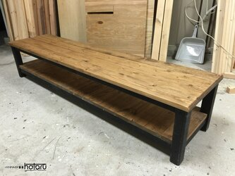 hotaru 男前家具 TVボード 飾り棚 オーダー可 天然木 無垢材の画像