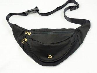 リモンタナイロン/ウエストポーチ「 Twill/Fanny pack S」 (Black)の画像
