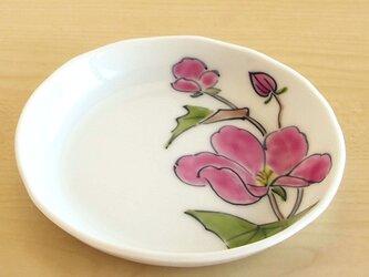 錦ピンク芙容手 四寸深小皿の画像