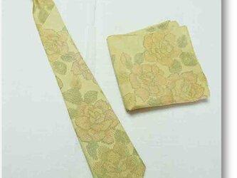 1【受注生産】着物リメイクネクタイ&ポケットチーフの画像