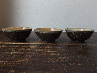 黒ドット飯碗(小)の画像