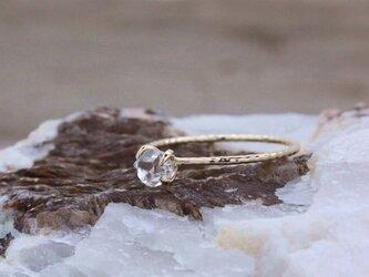 ハーキマーダイヤモンドの縄目リング K10イエローゴールド #11の画像