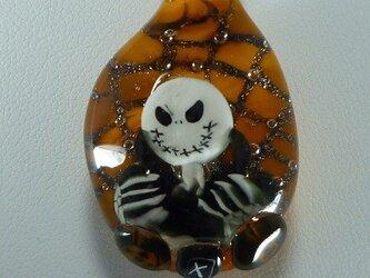 ジャック、ハロウィンNO.2(オレンジ、蜘蛛、巣)の画像