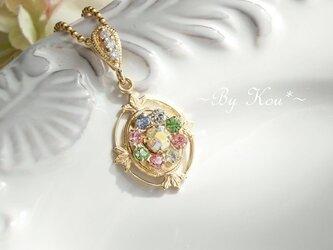 ♥**pastel wreath**♥V.swarovski ネックレス。の画像