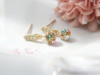 ♥**pastel bouquet**♥V.swarovski ピアス。の画像