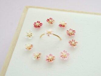 桜のリング SSサイズ -陽だまり- *つまみ細工*の画像