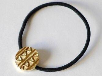 1点物★ Stripe×Wave hair Accessories(brass) ヘアゴム★真鍮★ストライプ★ウエーブ★波の画像