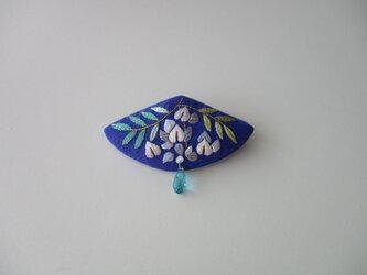 藤の花 ブローチの画像