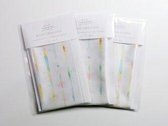 虹のクリーニングクロス 水彩画のアートワークの画像