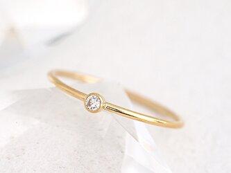 14KGF Cubic Zirconia Ringの画像